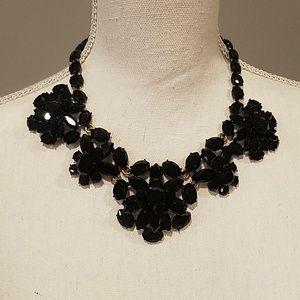 J crew Statement Black Jewel Necklace